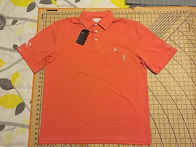 Mens L Orange 2Nd Guy Golf Safeway Albertsons Longbow G C  Event Shirt   Nwt
