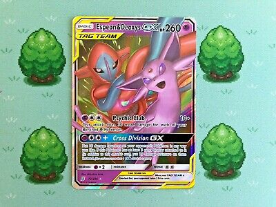 Pokemon - Espeon & Deoxys GX - 72/236 - SM Unified Minds - Half Art