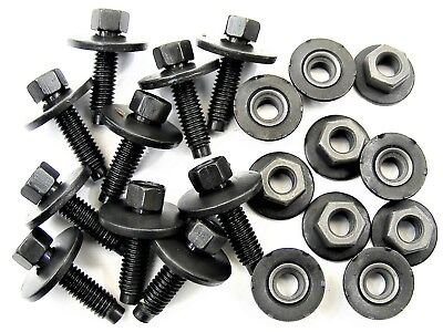 GM Body Bolts & Barbed Nuts- M6-1.0mm x 22mm Long- 8mm Hex- Qty.10 ea.- #396