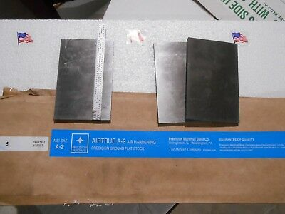 3pc Lot 14 X 5 X 3.25 - 3.5 Inch A-2 Airtrue Precisi Ground Marshall Tool Steel