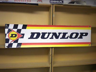 Dunlop Tyres PVC advertising banner sign for vintage Workshop or Garage