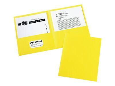 Avery 2-pocket Presentation Folders Yellow 25box 47992 806643