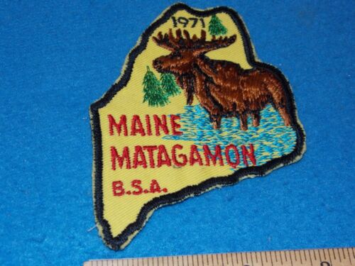 Vintage - 1971 Maine Matagamon Moose Twill Boy Scouts of America BSA Patch