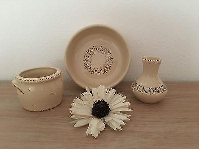 Allgäuer Keramik - Schale Vase u. Töpfchen - handarbeit - neuwertig - Dekoration