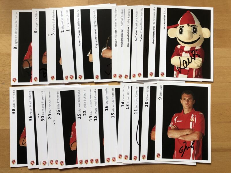 35 Ak FC Energie Cottbus Autograph Cards 2009-10 Original Signed