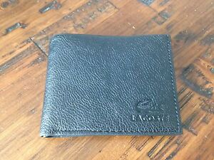 Lacoste black leather wallet