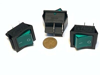3 Pieces Green 4 Pin Kcd4 20a Rocker Switch On Off Latching 12v 125v Ac Dc B5