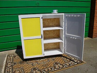 Vintage Retro Kitchen Freestanding Cabinet - Cupboard - Shelving - Updated