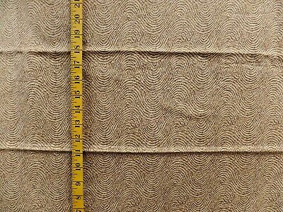 DIMENSIONS STYLE SCREEN PRINT BROWN ON CREAM 100% COTTON FABRIC 26X43 -