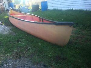 Fibreglass 16' canoe