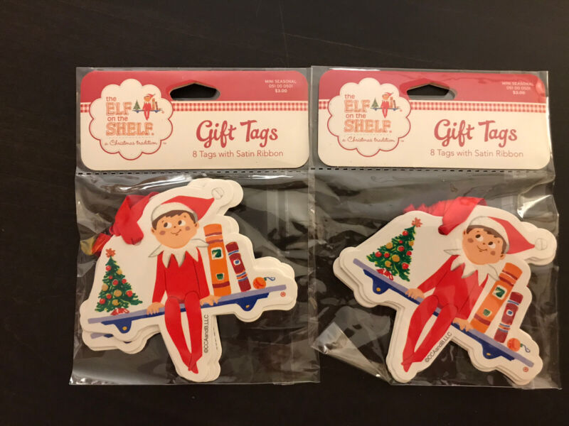 THE ELF On The SHELF CHRISTMAS GIFT TAGS ~ 2 NEW PACKAGES ~ 8 In EACH PACKAGE