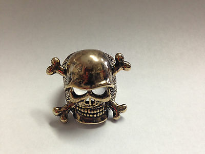 Skull And Cross Bones Ring Gold  Seen On Sons Of Anarchy Size 11