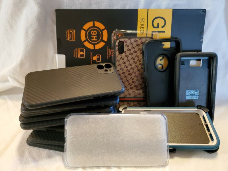 Assorted Lot Of Otter Box And Other Miscellaneous Cases And A iPad Pro Shield
