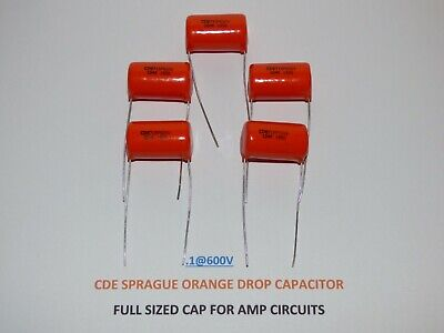 Sprague Orange Drop 715p Film And Foil .1uf 600v Capacitors Set Of 5