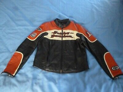 Women's HARLEY DAVIDSON  #1 Racing 1903  3-in-1 Leather Jacket Sz XL 97119-07VW