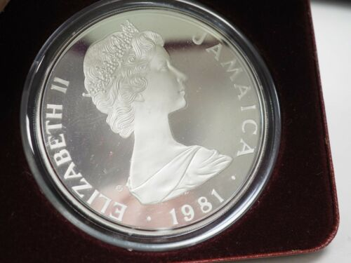1981 Jamaica .925 Sterling Silver Proof 25 Dollar Coin with Presentation Box