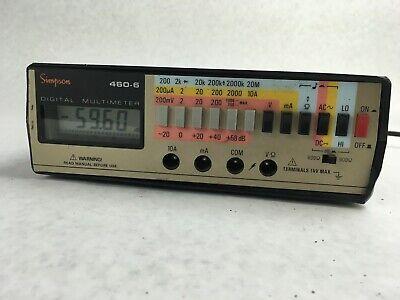 Simpson 460-6 Series Digital Multi Meter Multimeter