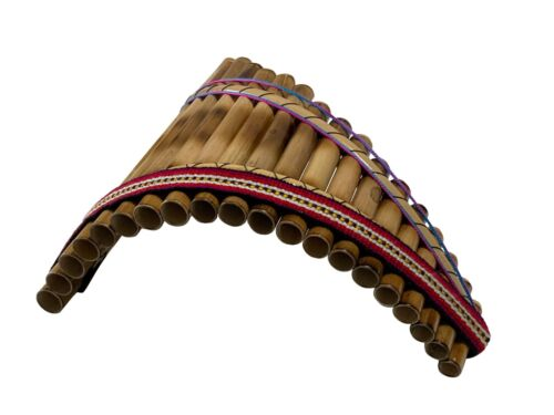 new 20 bamboo pipes in one row curved Sampoña panflute beginners version by Wal