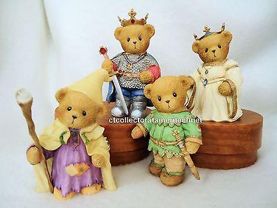 Cherished Teddies King Arthur Guinevere Merlin Lancelot 2006 NIBs