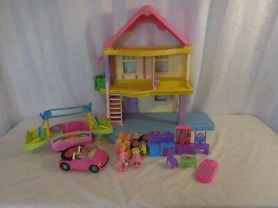 Fisher Price Loving Family My First Doll House + Camper + Car + acces + figures