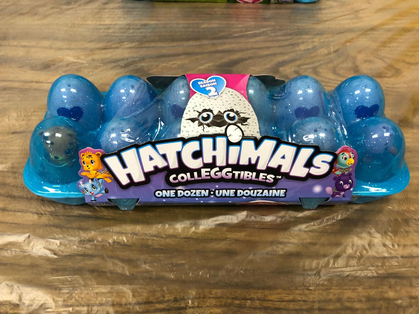 New Hatchimals Colleggtibles (Season 2) ---12 Pack Collectible blue egg carton