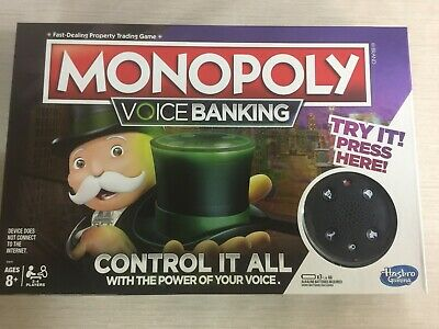 Monopoly Voice Banking Electronic Family Board Game for Ages 8 & (Ups Electronic)