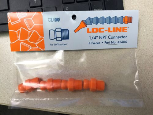 """LOC LINE #41406 1/4"""" NPT CONNECTOR 4PC PACK -NEW"""