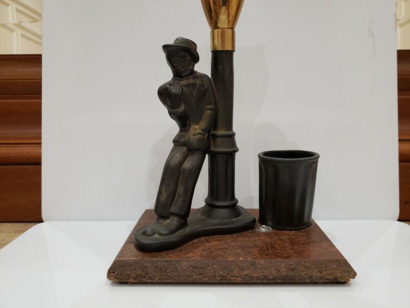 "Evans Working DRUNK MAN LEANING ON STREET LIGHT POST Table Lighter 10""  1913.47"
