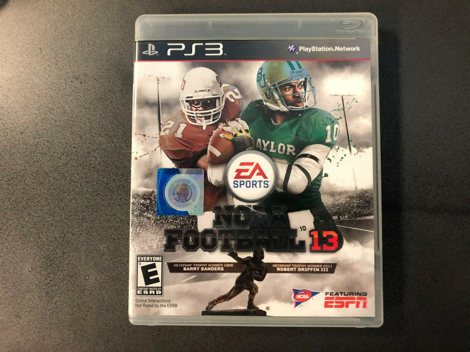 NCAA Football 13 Sony PlayStation 3 PS3, 2012 Black Label CIB RARE Tested  - $18.00