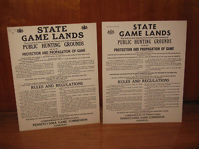 2 PA GAME COMMISSION STATE GAME LANDS HUNTING SIGNS