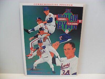 a1bad1d47bc Texas Rangers Nolan Ryan Day Game Program PLUS Nolan Ryan Day DVD! +++
