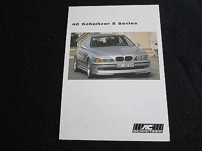 1998 BMW SCHNITZER E39 5 Series 540i 528i 525i 530i Brochure 1997 2000 1999