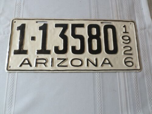 1926 ARIZONA RESTORED LICENSE PLATE 1-13580