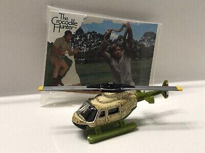 "Matchbox ""Crocodile Hunter"" Rescue Chopper Helicopter w/ Steve Irwin Card RARE"