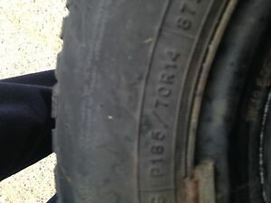 Set of 4 winter tires 185/70R14 on rims.