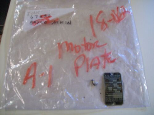 """General Electric 1/4 HP Motor Plate Atlas 9"""" Metal Turning Lathe #918 2 3/4"""" Gap"""