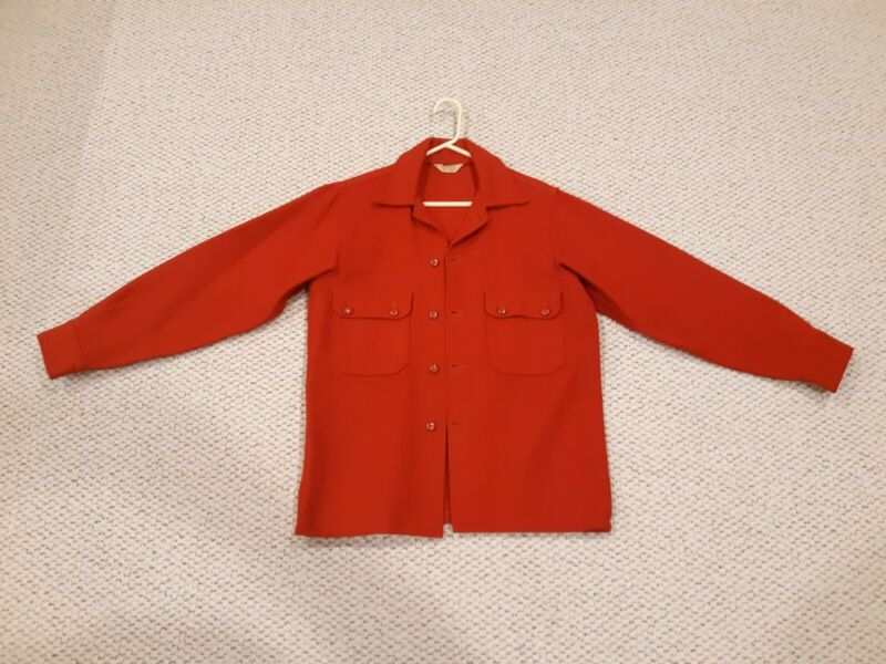 Vintage Official Boy Scout Red Wool Leaders Jacket Very Good Condition