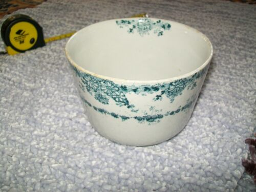 Antique Cleveland Pottery Waste Bowl Coronation England Transferware Porcelain