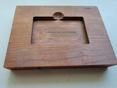 American Express Platinum Wooden Block