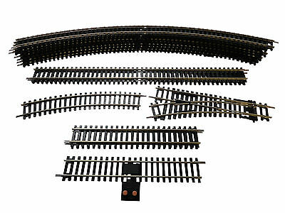 Hornby OO Gauge Oval Track Layout W/ Straights, Curves, Point, & Power Track
