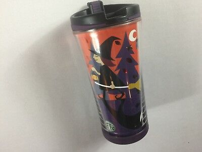 Starbucks Tumbler Mug Coffee Cup 2007 Halloween 8oz Kids Travel Skeleton Witch