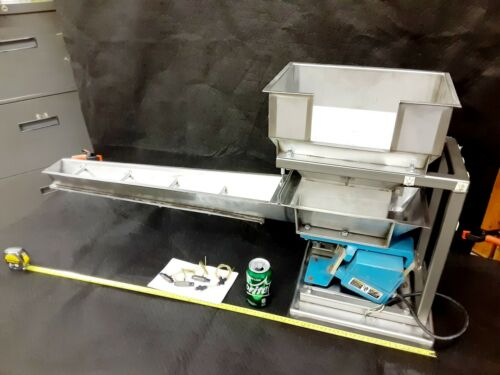 Works~ Magnetic Vibrating Parts Feeder Shaker W/chute & Stand Syntron? Vibrator
