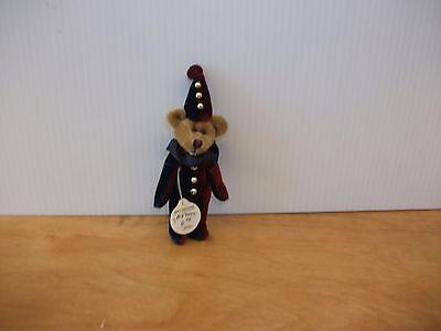 Boyds Bears Plush TUMBLE F. WUZZIE Fabric Teddy Bear Clown Mini Jointed 596005