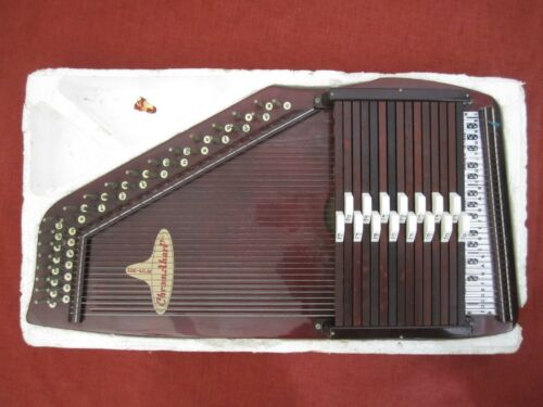 PeriPole Chromaharp Autoharp Japan, likely unused w/ broken strings AS IS, PARTS