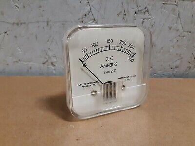 Emico Panel Meter 0-300a Dc Amp Gauge 2-34 X 2-34 D114g
