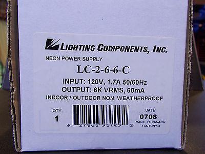 Lighting Components 6000 60MA Neon Transformer NIB! INDOOR/OUTDOOR TYPE3 PARTS (Lights Transformer Type)