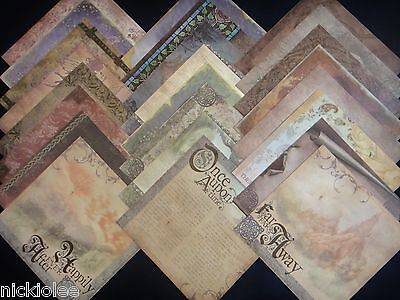 12X12 Scrapbook Paper Cardstock DCWV Once Upon a Time Fairytale Stack 24 Kit Lot (12x12 Scrapbook Paper)