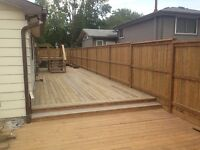 Need a fence or deck??