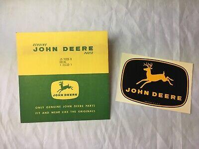 Vintage Nos John Deere Decal 1962 Farm Tractor Oem Jd-5205-r Black 10-point Deer