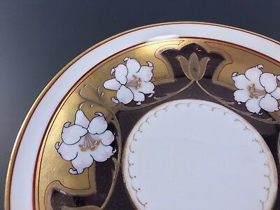 PICKARD CHINA Comport w Hand Painted Lilies Signed BEULET Circa 1903-1912